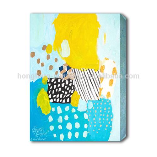 حار بيع اللوحة الحديثة الفن التجريدي اليدوية البسيطة للديكور