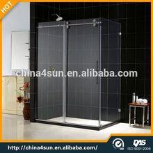 Alta qualidade em aço inoxidável de vidro do banheiro contador top