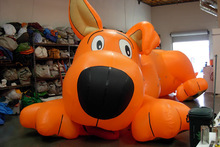 Giant inflatable dog model/large inflatable animal cartoon character
