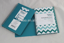 2014 custom a4 spiral notebook with color pages/spiral notebook from china