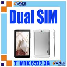 Dual camera flashlight 7inch 3g video call tablet phone MTK 6572 ARM A9 1.2GHz processor