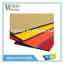 China manufacturer building facade aluminum cladding/4mm pvdf aluminium composite pan decorative panel