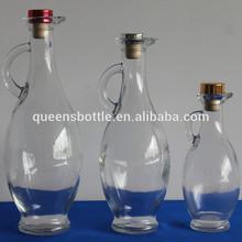 Engine oil bottle oil sample glass bottle for oil or vinegar with cork top