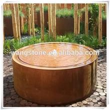 Unique grand Home Decor Corten acier rond Sculpture fontaine d'eau