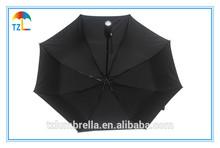 42 Inch Arc LED Light Manual Open Umbrella / 3 Folding With LED Handle