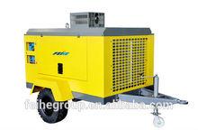 Portable diesel single screw compressed air compressor