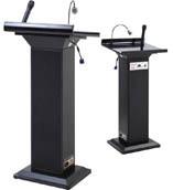 Acrylic wooden podium