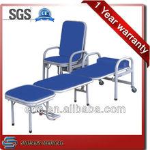Portable Sleeping chair medical accompany steel chairs