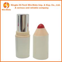10.7g Empty Bullet White Tubes Plastic Lip Balm Tube pen