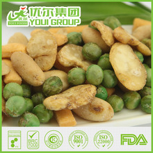 2014 BRC certified fried crackers and beans mix, green beans snacks
