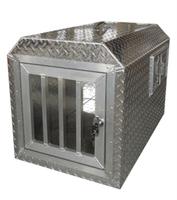 ALUMINUM DOG CRATE CAGE KENNEL~DOG TRANSPORTATION BOX