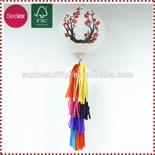Rice paper lantern tassels, wedding decoration, tassel garland