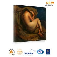 Beautiful classical sleeping women nude back oil painting