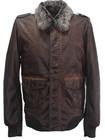 Mens Garment dyed PU jacket Mens vintage look PU coat 2014 Fashion dirty washed mens PU jacket