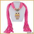 nuovo design collana pendente civetta sciarpa della fabbrica di porcellana