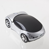 Computer Mouse Wireless 1000DPI Silver Car Optical Wireless Gaming Mouse +USB receiver
