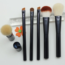 Your own brand makeup brush sets aluminum handle brushes/wholesale airbrush makeup kit
