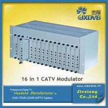 16 in1 CATV Analog Modulator/Cable tv 47-860MHZ Adjustable modulator
