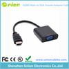 HDMI to VGA with Audio + Mini Micro HDMI to hdmi Convertor adapter 3 in 1 cable