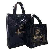 Practial custom printied shiny PVC shopping bag/ladies branded handbag(PK-11405)