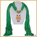 sciarpa nuovo design gioielli collana pendente civetta sciarpa