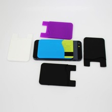 silicone smart wallet 3m sticky for cell phone