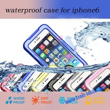 New arrival! 6 colors optional Waterproof Silicone Membrane Screen Protector+PC Bumper Case for iPhone 6 4.7 inch
