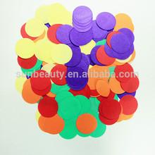 Colorfull paper wedding confetti, white paper confetti for wedding decoration