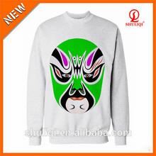 custom Beijing opera mask all over sweatshirt white printing supreme