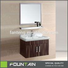 Italian Steel Wood Furniture Wood Color Bathroom Stainless Steel Wall Furniture