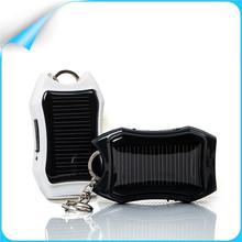 Mini flashlight keychain USB 1200mAh solar Power Bank charger