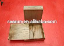 Sliding Wooden packaging box, Pine wooden tea gift box, wood sliding gift box