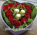 beautiful grande coração rosa em forma de caixa de caixa de casamento