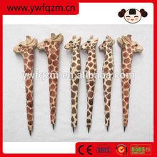Custom New Design Animal Carved Wooden Ball Pen