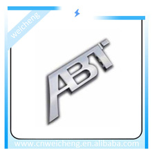 Metal auto emblems with Embossed Letters