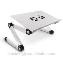 Folding lap desk for laptop with fans