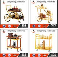 double-deck Metal liquor trolley bar cart JC-ZS21