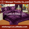 Luxury 3d embroidery wedding bed cover bedding with curtain king size bed sheet patchwork quilt comforter cheap nantong textiles