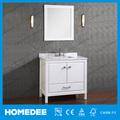 Salle de bains vanity homedee coin. miroir armoire de base blanc