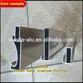 Alumínio desenho cad como clientes' alumínio cozinha design/anodizado prata 15mm mini borda de alumínio para armário de cozinha