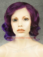 Best quality cheap price fashion wavy ombre lace front synthetic wig