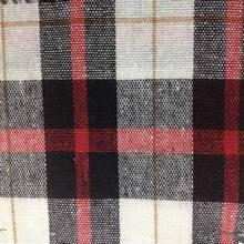 140 cm 55% linen 45% cotton plaid pattern cotton/linen blend fabric for garment handbags