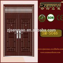 2014 hot sale Fire Rated Steel Security Door, Paint Colors Small Exterior Door, House Front Door Design double steel door