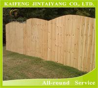 Decorative wood fence , natural color garden wood fence