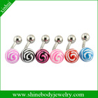 candy color belly bar piercing body jewelry