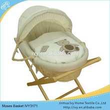Handmade corn husk baby basket set baby bed travel