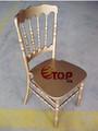 madeira ouro empilhamento cadeira de napoleão