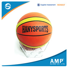 Wholesale customize basketball rubber colorful