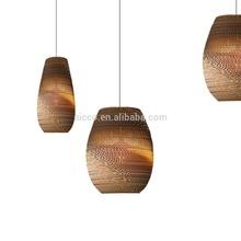 Modern Decorative Pendant Lighting Home Smart Lights Recycled Cardboard Drop Pendant Lighting