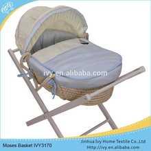 Handmade corn husk audit baby basket set bed quilts